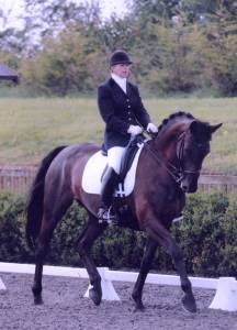 Sue with Madison Avenue at the Keysoe Regionals