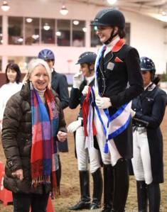Sue McMahon at the Addington Regional Championships prize giving